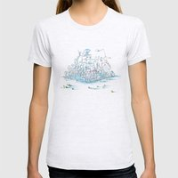 Scientist Frog Womens Fitted Tee Ash Grey SMALL