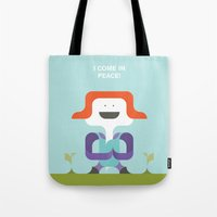 I Come In Peace Tote Bag