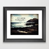 LIFE IS SHORT  Framed Art Print