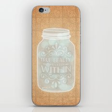 True beauty comes from within iPhone & iPod Skin