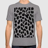 Animal Print Mens Fitted Tee Tri-Grey SMALL