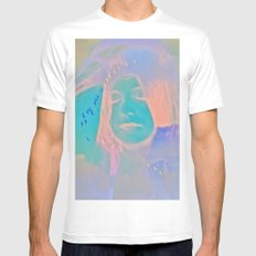 Kiss me just once again and I'll be on my way Mens Fitted Tee White SMALL