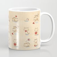Cats and hearts Mug