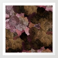 FLORAL PINKS Art Print