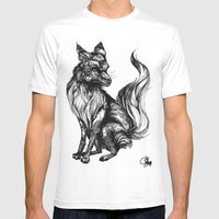 Foxy Two Mens Fitted Tee White SMALL