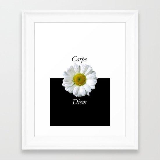 Yin Yang Carpe Diem Framed Art Print