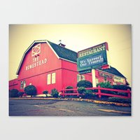 Canvas Print featuring The Homestead Restaurant by Vorona Photography