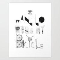 Bicycle Art Print