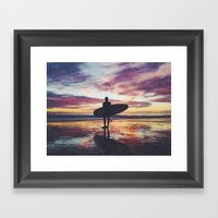 Surfing Pure Color Framed Art Print