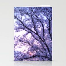 Periwinkle Lavender Flower Tree Stationery Cards