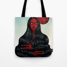 Long Black Hair. Tote Bag