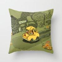 S-Car-Go! Throw Pillow