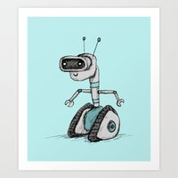 robot Art Prints featuring Robot by Sophie Corrigan