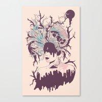 Curse of the Moon-Dipped Virgin Canvas Print