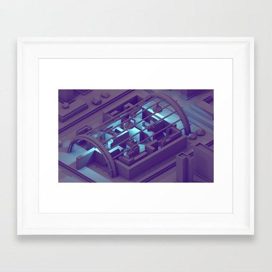 Maze Level Framed Art Print