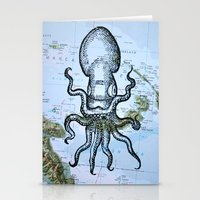 Octopus in the Solomon Sea Stationery Cards