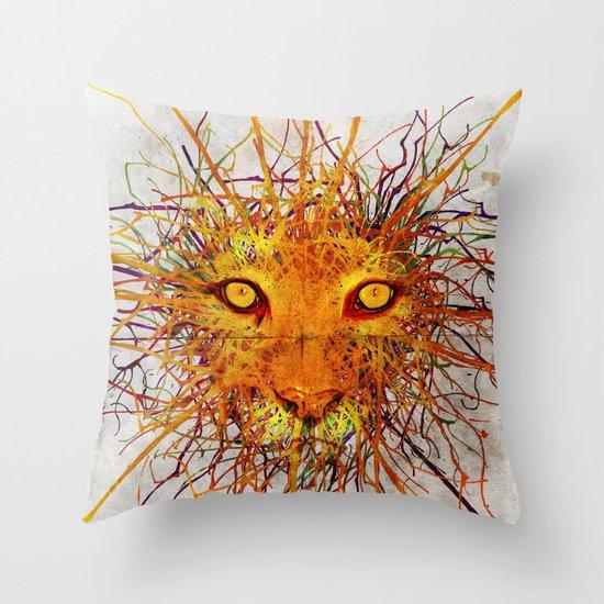 Lion Drip Throw Pillow
