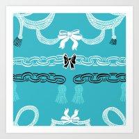 Tiffany Chains Art Print