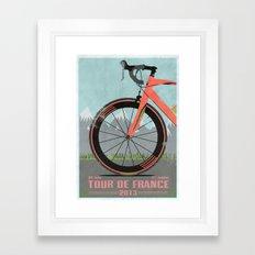 Tour De France Bike Framed Art Print