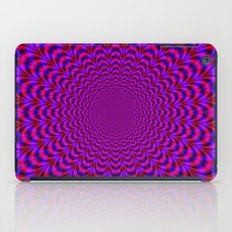 Pulse in Red and Blue iPad Case