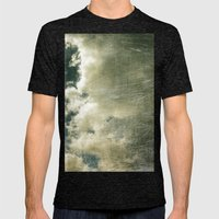 Partly Cloudy Mens Fitted Tee Tri-Black SMALL