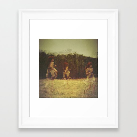 a delicate balance Framed Art Print