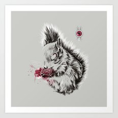 Zombie Squirrel Art Print