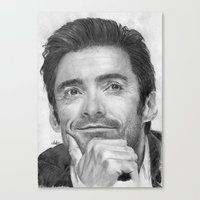 Hugh Jackman Traditional Portrait Print Canvas Print