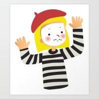 Le Mime Art Print