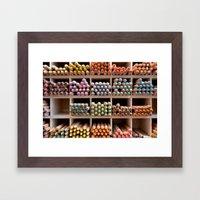 Coloured pencils Framed Art Print