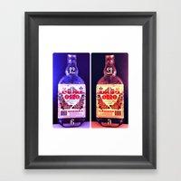 Alcohol Time Framed Art Print