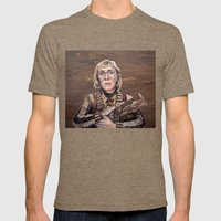 Log Lady / Twin Peaks Mens Fitted Tee Tri-Coffee SMALL