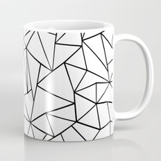 Abstract Outline Black on White Mug