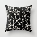 Arrows - Black and White by Andrea Lauren Throw Pillow