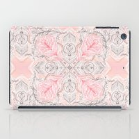 Peaches and Cream Doodle Tile Pattern iPad Case
