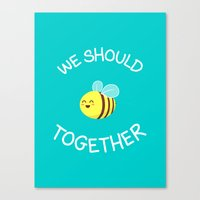 A bug's love life Canvas Print
