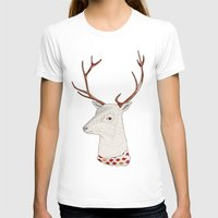 Dear Deer. Womens Fitted Tee White SMALL