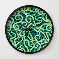Cephalopod Soup Wall Clock