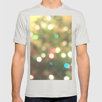 Christmas Tree Mens Fitted Tee Silver SMALL