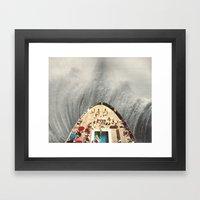a great big wave (to wash it all away) - collab with sammy slabbinck Framed Art Print
