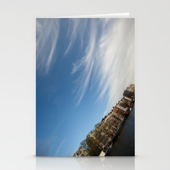 Feathery Clouds Stationery Card