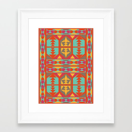 Neo Native Framed Art Print