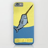 iPhone & iPod Case featuring I wish I was a unicorn by Monkey Chow