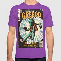 Greedo Vintage Comic Cover Mens Fitted Tee Ultraviolet SMALL