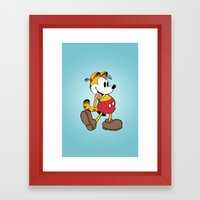 Mickey x Garfield  Framed Art Print