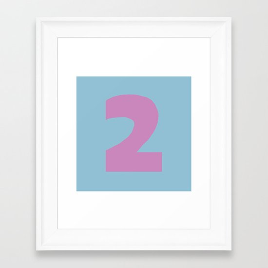 Number 2 Framed Art Print