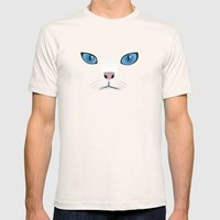 Little white cat Mens Fitted Tee Natural SMALL