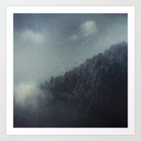 Ashen Forest Art Print