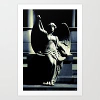 Art Deco Angel Art Print