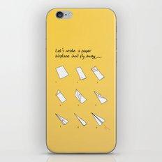 Paper Airplane iPhone & iPod Skin